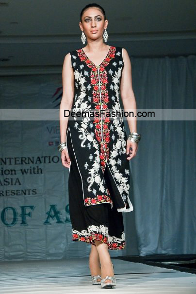 Pakistani fashion Dress – Black Red Party Wear