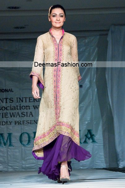 Latest Formal Wear Collection – Beige Purple Sharara