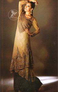 Light Fawn Double Layer Shirt Sharara
