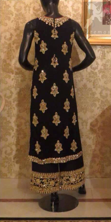 Black Fully Embellished Formal Wear Long Shirt - Flapper