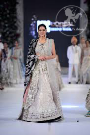 Latest Ivory White Blouse & Lehenga and Embroidered Dupatta 2016