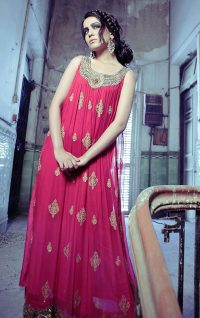 Deep Pink Semi Formal Maxi