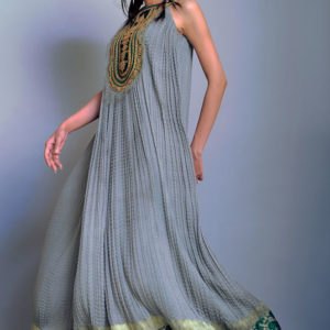 Light Gray Casual Frock with Straight Trouser