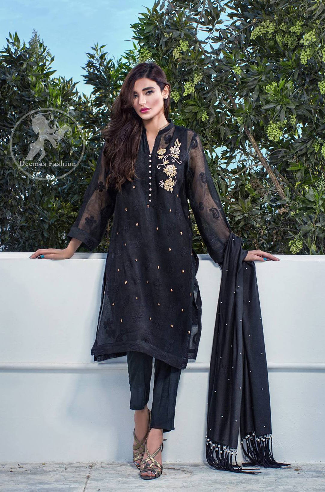 black-casual-wear-shirt-and-trouser-2