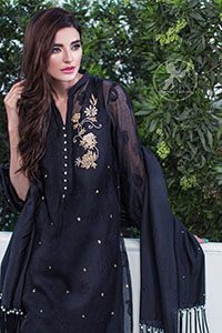 Latest Collection 2016 – Black Casual Wear Shirt And Trouser