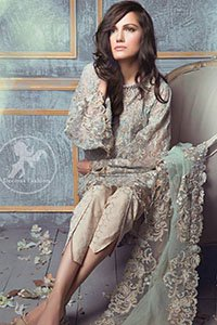 Light-Teal-Blue-Semi-Formal-Short-Shirt-Embroidered-Dupatta-Beige-Tulip-Pants