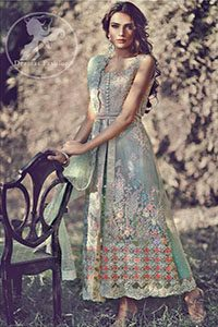 Mint-Green-Front-Open-Bridal-Gown-Embroidered-Dupatta (2)