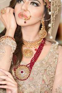 Bridal Wear Coffee Angrakha Frock Sharara