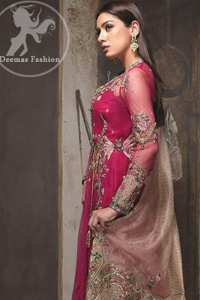 Maroon Flush Angrakha Copper Rose Dupatta