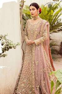 Brandy Rose Frock Lehengha Tan Embroidery
