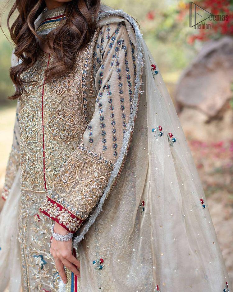 Light Gray Long Shirt Sharara – Dupatta
