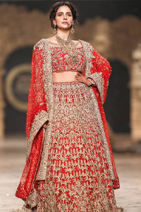 Red Lehenga Blouse – Dupatta. Introducing a red blouse and lehenga to our wide range of charming bridal dresses.