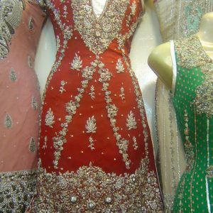 Latest Pakistani Bridal Wear – Red Traditional Dress