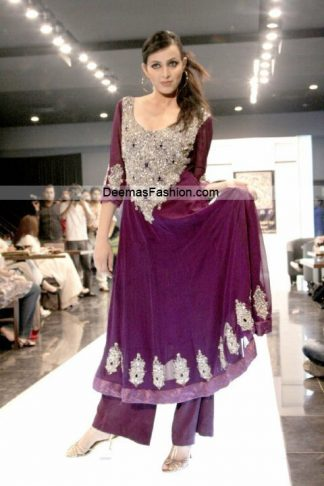 Paksitani Fashion Dresses - Magenta Formal Wear
