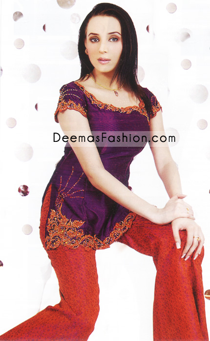 Buy Pakistani Fashion Clothes – Dark Purple tunic
