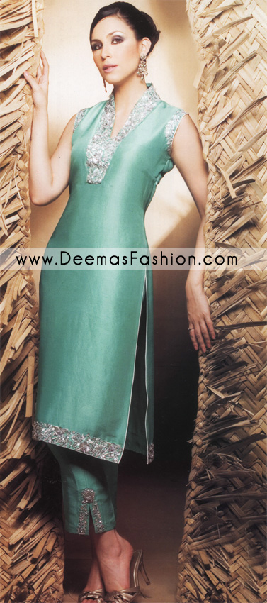 Designer Wear Dress – Terqious Green Bridal Wear