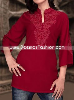 Designer-Wear----Stylish-Maroon-kurti
