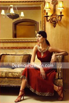 Designer Dress - Maroon Anarkali Dress