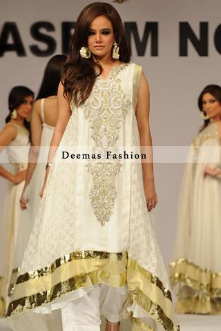 Elegant White Party Wear Dress
