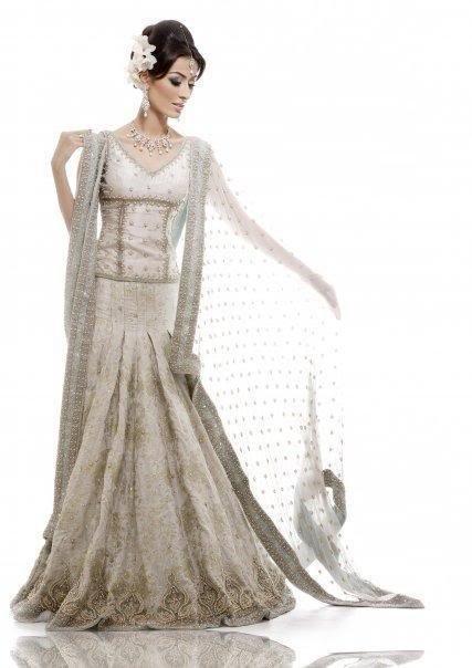 Pakistani Bridal Collection – Elegent White Lehnga