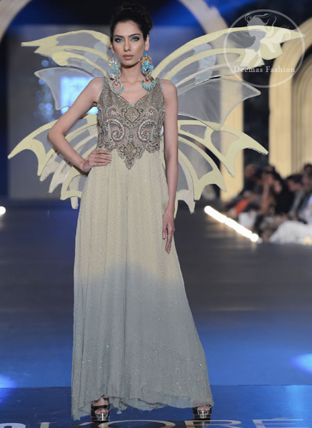 Ivory-white-Designer-wear-party-gown