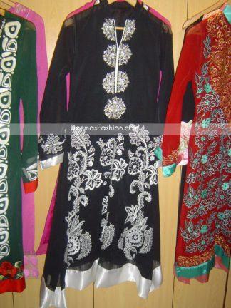Pakistani Latest Casual Wear - Black & White Designer Dress