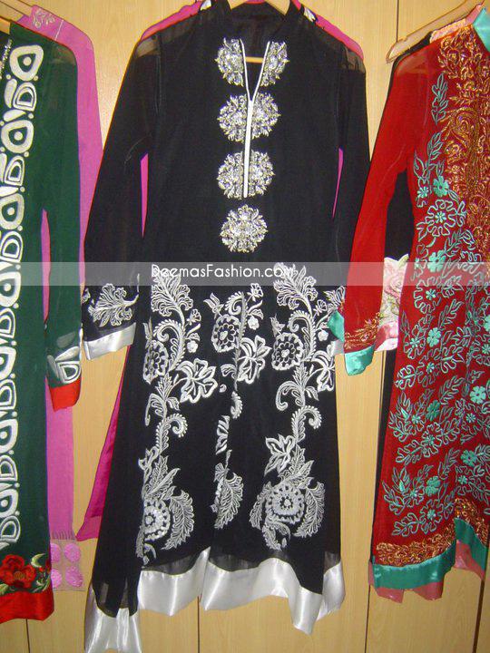 Pakistani Latest Casual Wear – Black & White Designer Dress