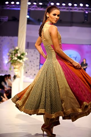 Latest Designer Wear Anarkali Pishwas Back View