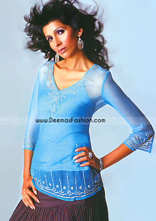 Ladies Designer Dress – Blue Tunic Kurta Wear
