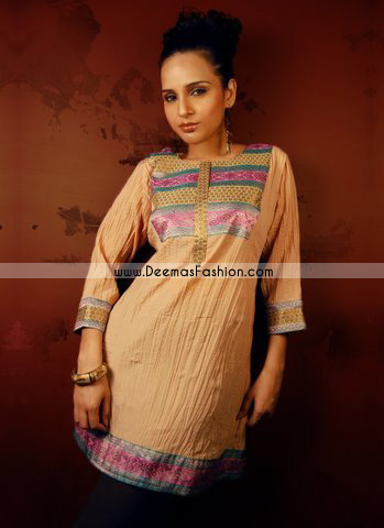 Latest-Pakistani-Dress—Light-Brown-Kurta