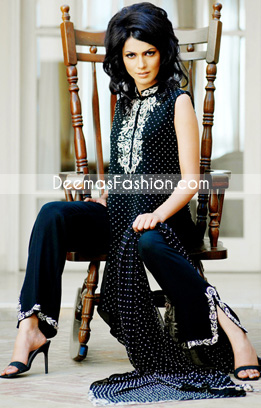 Latest Pakistani Fashion Black White Designers Casual Clothes