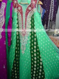 Latest-Pakistani-Fashion-Gree-Drsigners-Casual-Dress