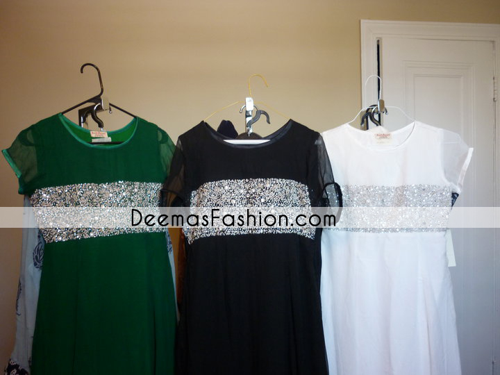 Latest Pakistani Trend 2011 Party Wear Embroidered Dress