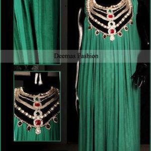 Latest Collection Dark Green Long Pishwas