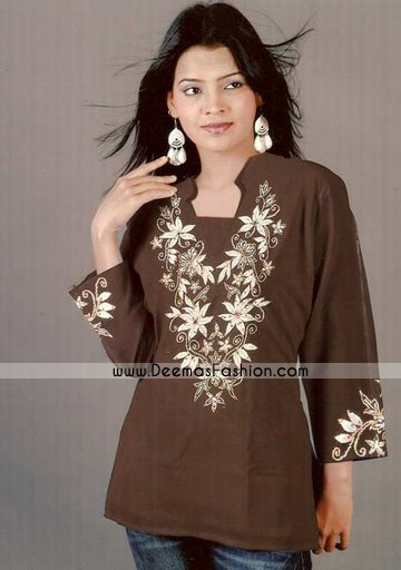 Latest-kurta-Fashion-Brown