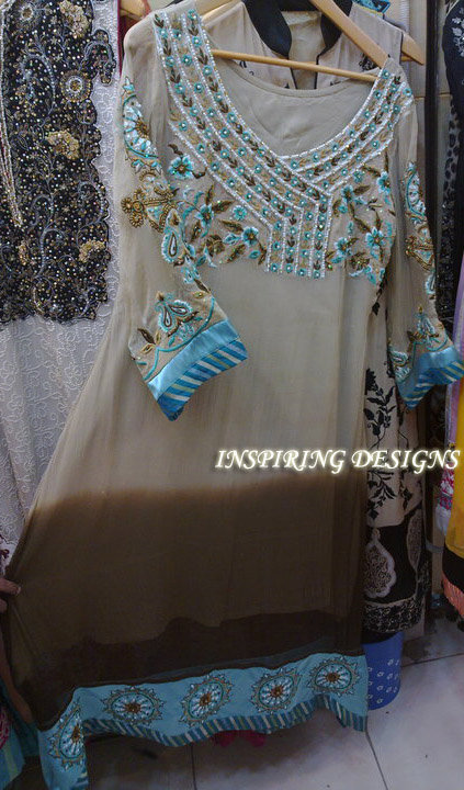 Latest Designer Collection Grayish Brown Casual Dress