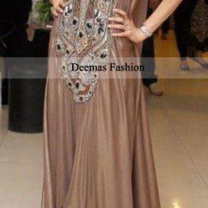 Light Brown Anarkali Frock Dress