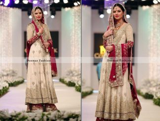 Off White Red Heavy Bridal Sharara