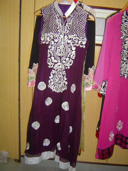 Dark Purple A-line Casual Wear – Pakistani Casual Trend
