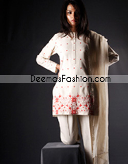 Pakistani Designer Collection White Casual Dress