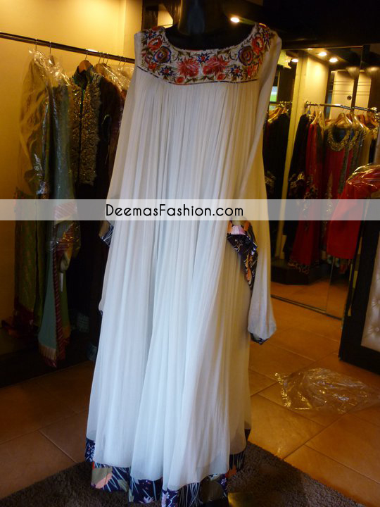 Pakistani Designer Wear Collection 2011 White Gown
