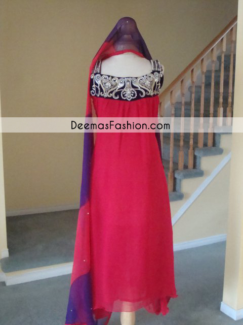 Pakistani-Designer-Wear-Collection-Red-Casual-Wear-Dress1