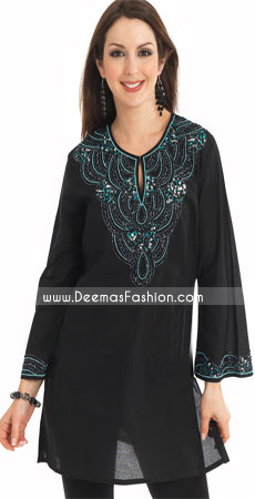 Pakistani-Dress-Black-Embroiderd-Kurta