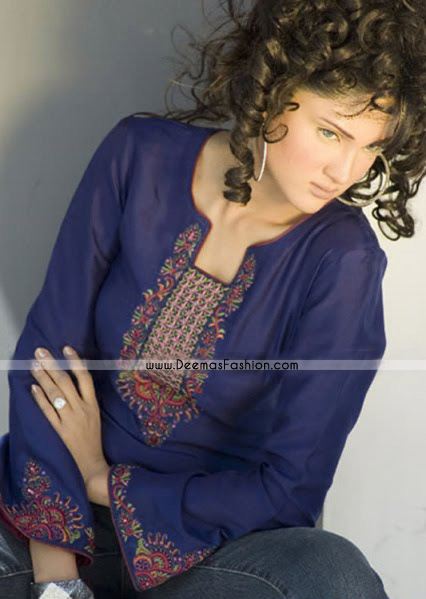 Pakistani-Dress-Royal-Blue