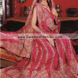 Pakistani Fancy Bridal Wear – Red Traditional Barat Lehnga