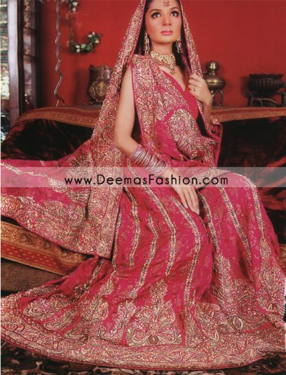 Pakistani Fancy Bridal Wear – Red Traditional Barat Lehnga