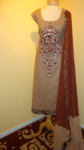 Pakistani Fashion – Chocolate Brown Dress