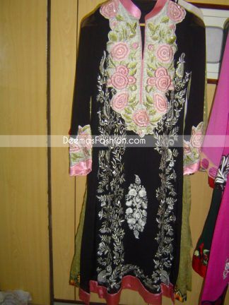 Pakistani-Fashion-Clothes-Black & White Casual-Clothes