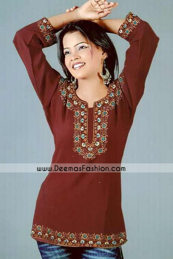 Pakistani-Ladies-Fashion-Dark-Brown