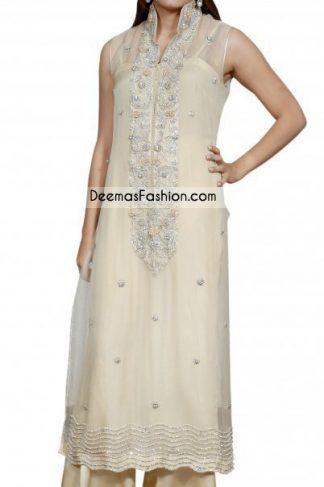 Pakistani Latest Formal Wear - Off White Dress
